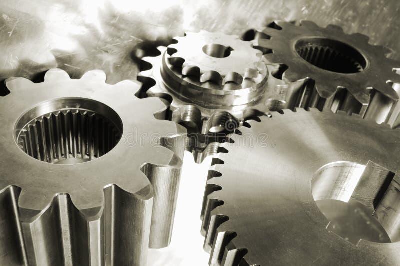 Gear mechanism in brown royalty free stock image