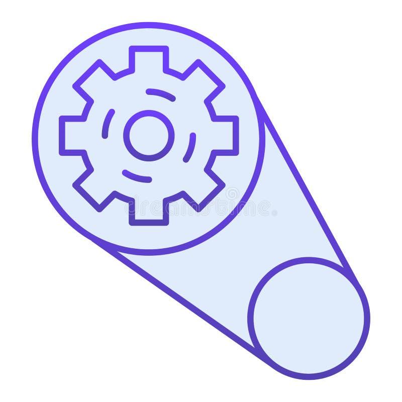 Gear mechanism flat icon. Cogwheel mechanism blue icons in trendy flat style. Machinery cog gradient style design vector illustration