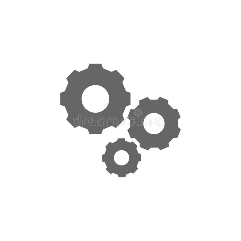 gear mechanism icon. Simple glyph  of charts and diagrams set for UI and UX, website or mobile application on white stock illustration