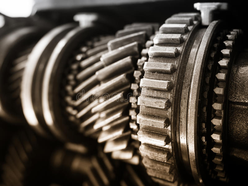 Gear Motor Machine parts Car Engineering details. Gear Motor Auto Machine parts Car Engineering details stock image
