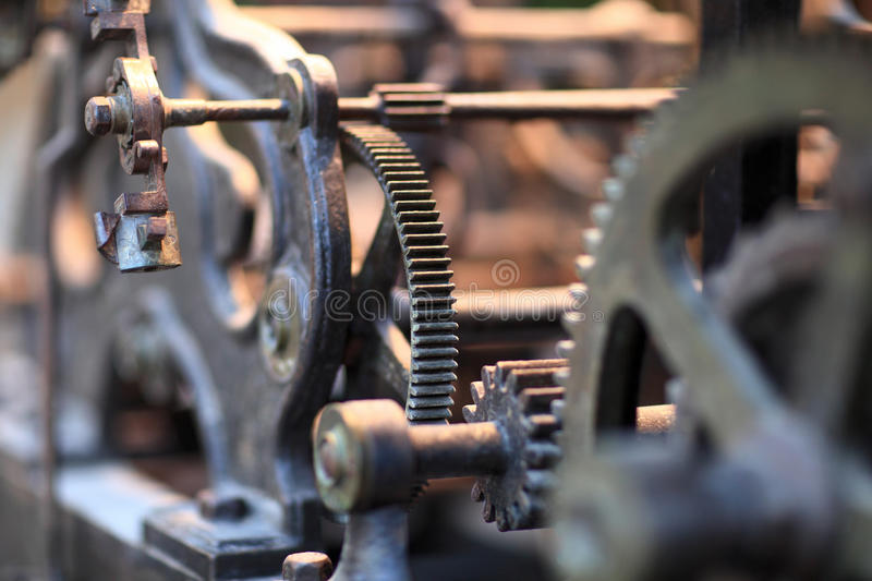 Gear of old clock royalty free stock images
