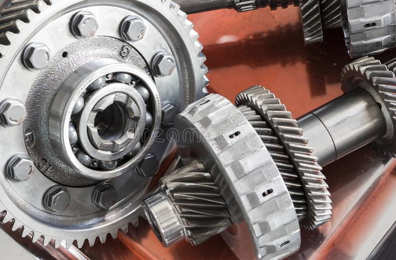 The Gear parts from car transmission royalty free stock images