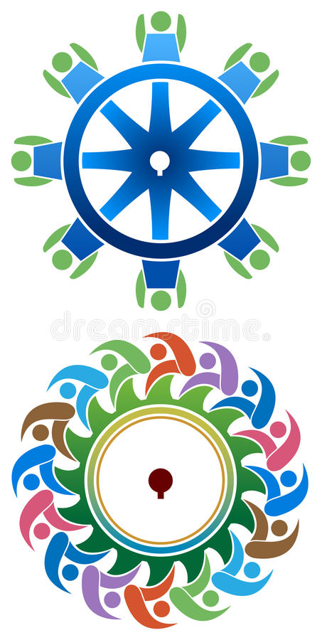 Gear people logo royalty free illustration