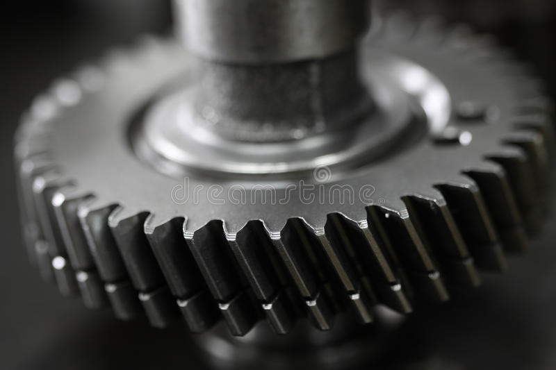 Gear pulley of the engine or the machine for transfer the power, machine equipment or auto part for repair the engine royalty free stock images