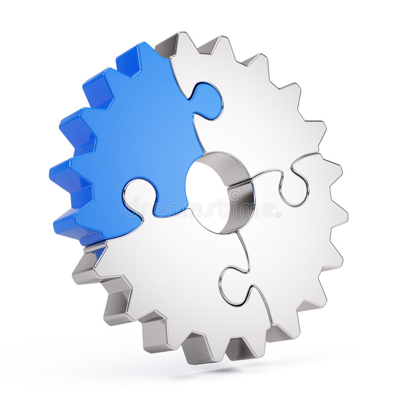 Gear puzzle stock illustration