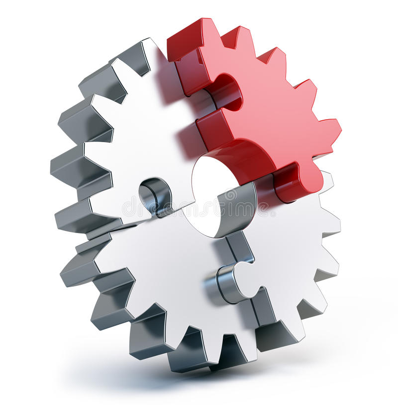 Gear puzzle vector illustration