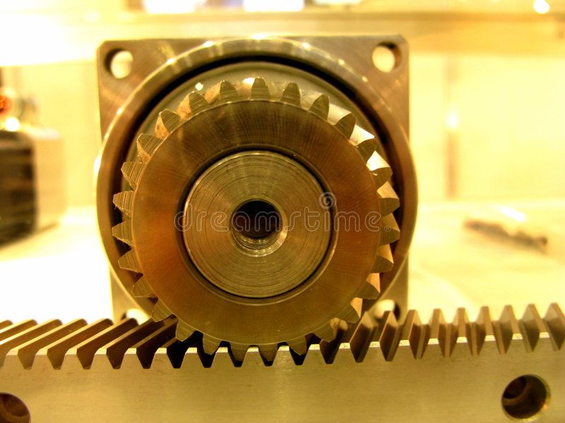 Gear-and-rack drive 2 royalty free stock images