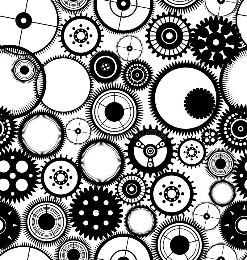 Gear Seamless Background Stock Images