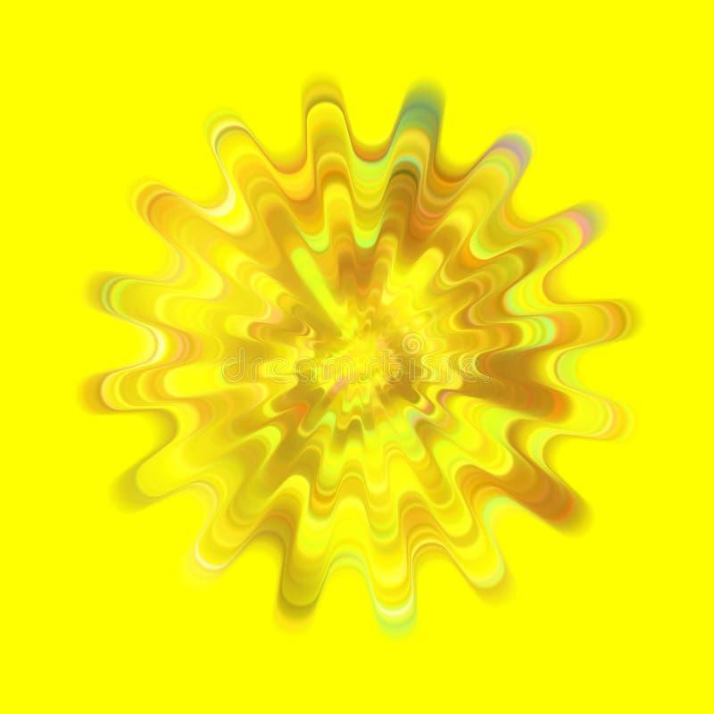 Gear Shape Cycle Wave. Yellow Brush Stroke stock photos