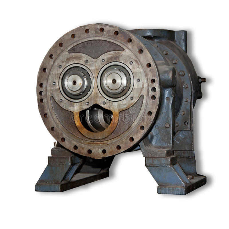 Download The Gear Smile Isolation On White Stock Photo - Image of robot, mechanism: 22922630