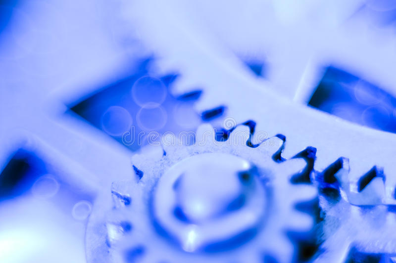 Gear soft blue royalty free stock image