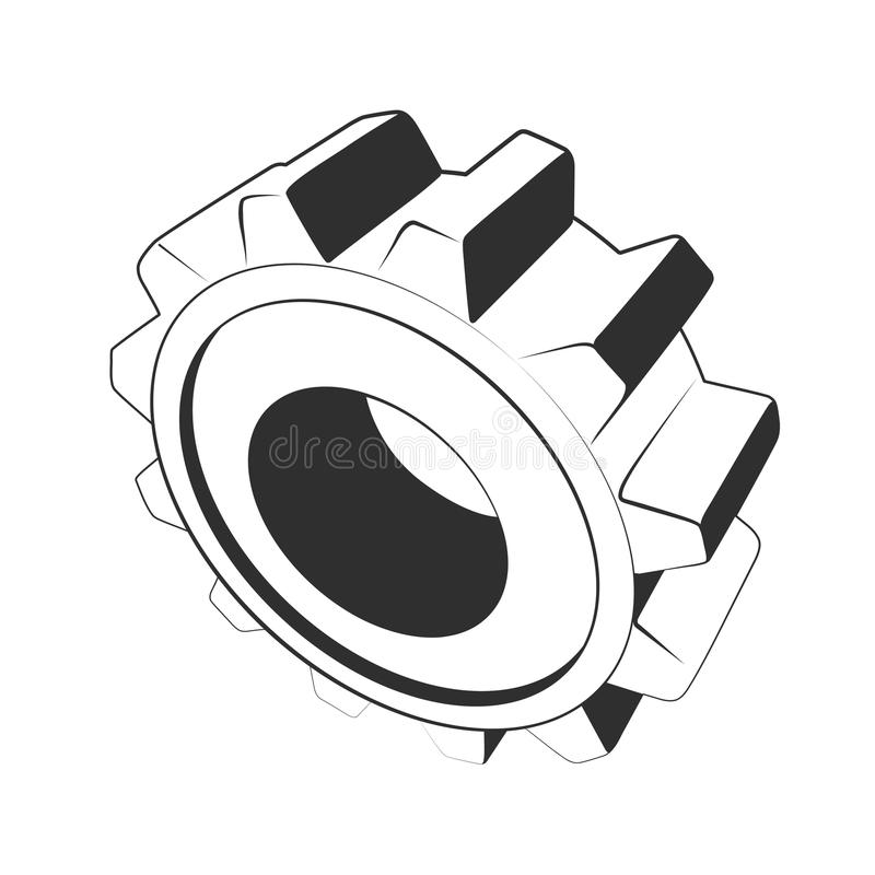Download Gear stencil stock vector. Image of illustration, background - 17501446