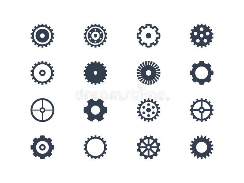 Gear. Symbols. Easy to edit and manipulate