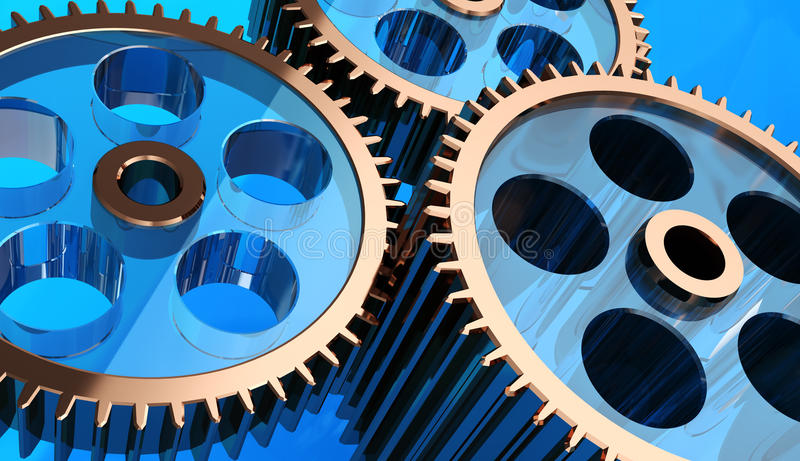 Gear System Royalty Free Stock Photo