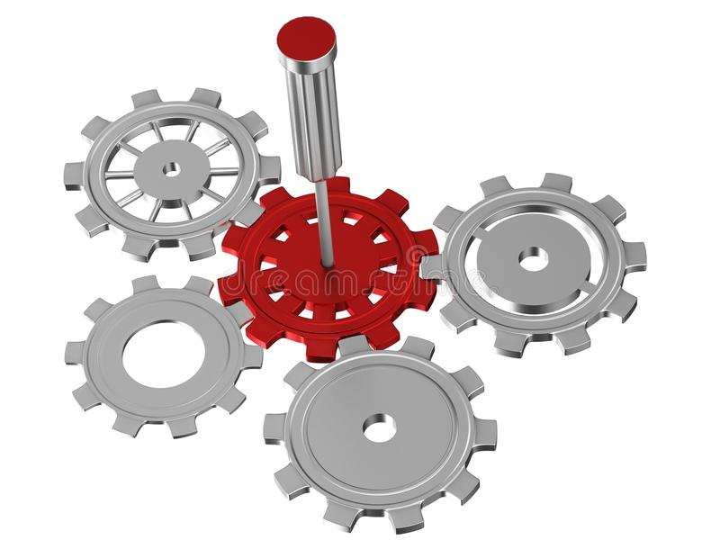 Download Gear System Royalty Free Stock Image - Image: 26680566