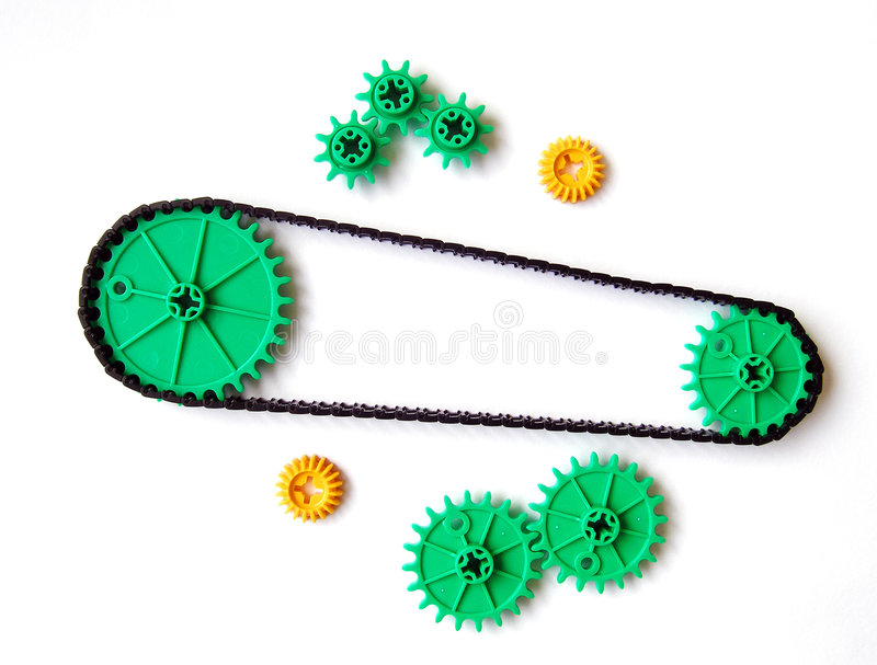 Download Gear system, simple stock photo. Image of chain, experiment - 5039574