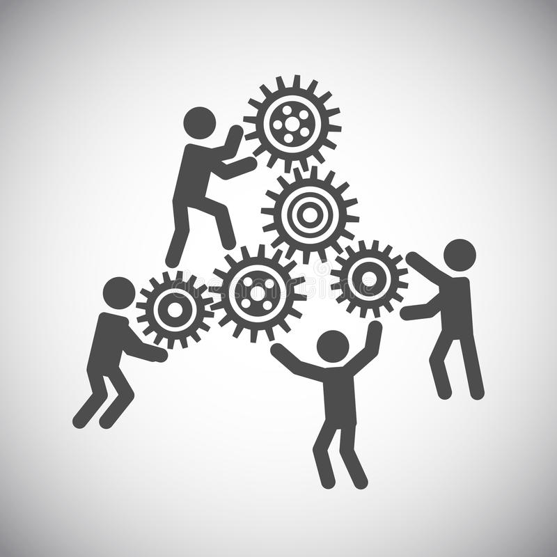 Gear teamwork concept stock illustration