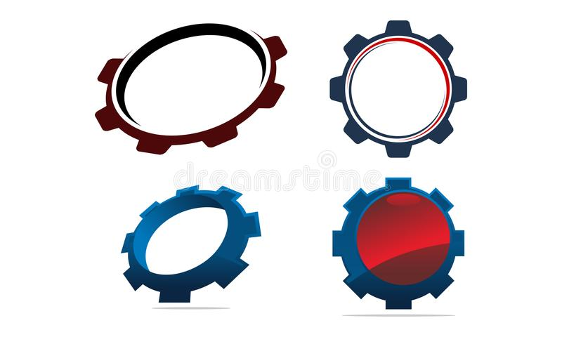 Gear Template icon Set stock vector. Illustration of icon - 108869274