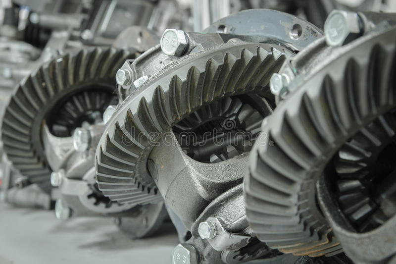 Gear transmission stock image