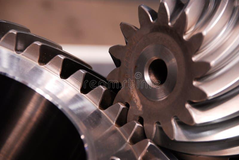 Gear-Wheel οδοντωτό συνδέοντας την κινηματογράφηση σε πρώτο πλάνο εργαλείο-γραναζιών στοκ φωτογραφία με δικαίωμα ελεύθερης χρήσης