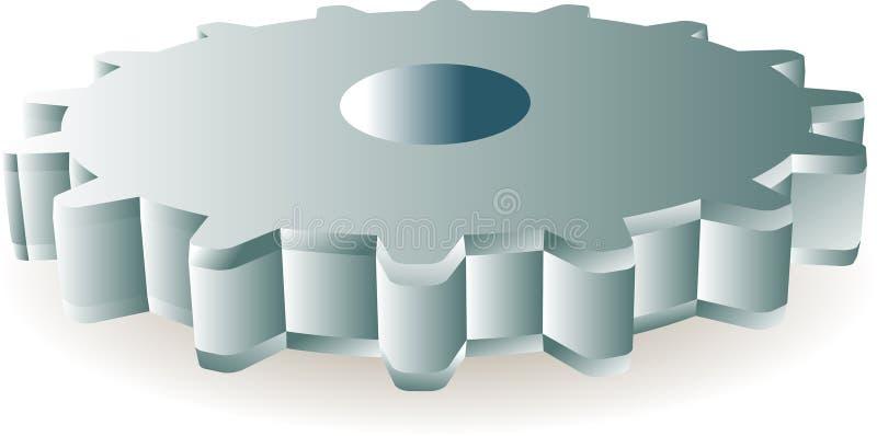 Download Gear wheel stock vector. Image of logo, mechanical, metal - 13239307