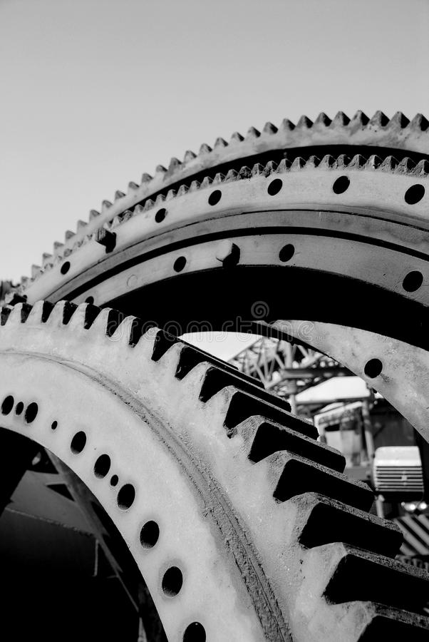 Gear wheel. Old rusty heavy industrial machine gear cogwheel stock photography