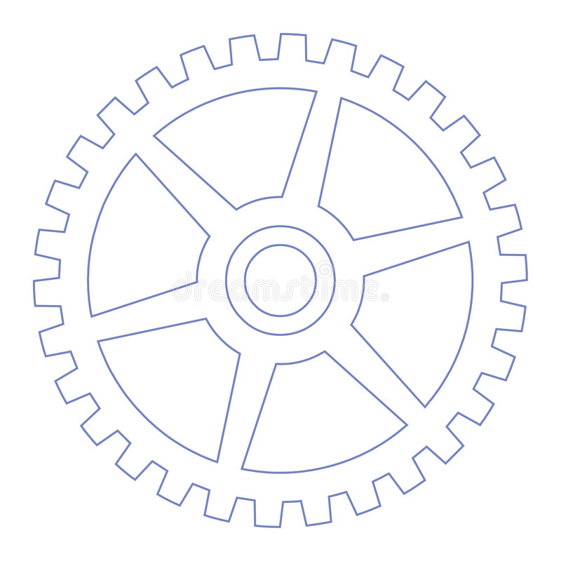 Download Gear wheel stock vector. Image of mechanic, circle, symbol - 54192