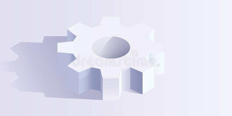 Gear wheel isometric vector illustration stock illustration