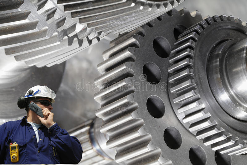 Gear wheel machinery and engineer royalty free stock images