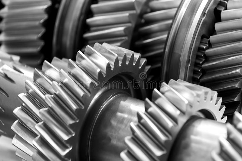 Gear wheel parts new car removed royalty free stock image