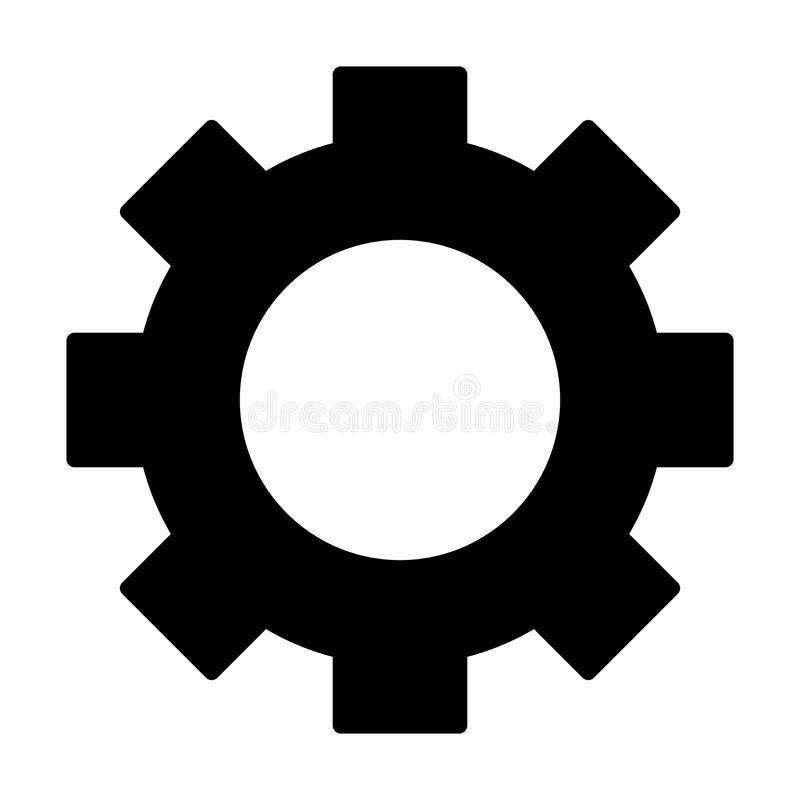 Gear wheel silhouette icon. Cog symbol. Vector vector illustration