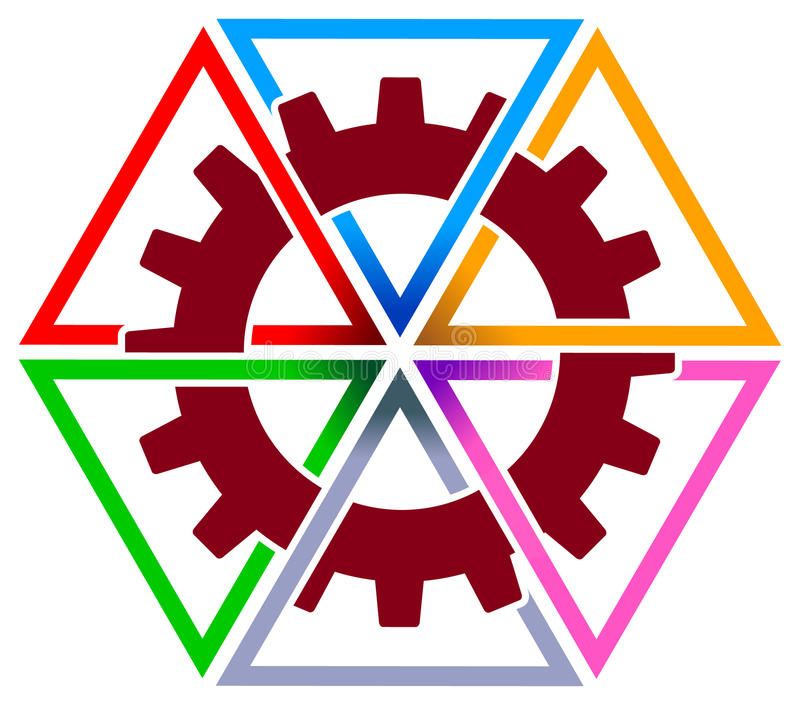 Gear Wheel With Triangles Stock Photo