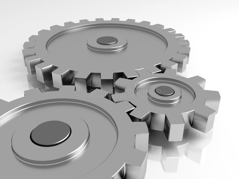 Download Gear wheels stock illustration. Image of pinion, dimensional - 12852068