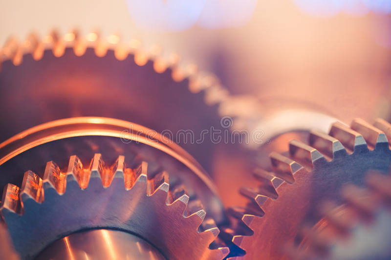 Download Gear wheels close-up stock photo. Image of interlock - 26233788