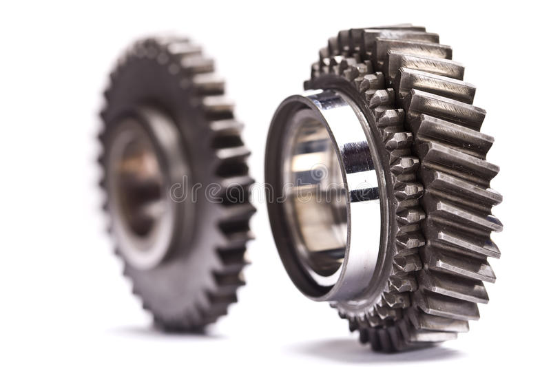 Gear wheels closeup royalty free stock images