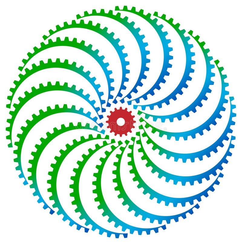 Gear wheels logo stock illustration