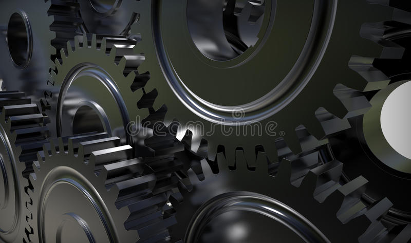 Gear Wheels System Royalty Free Stock Images
