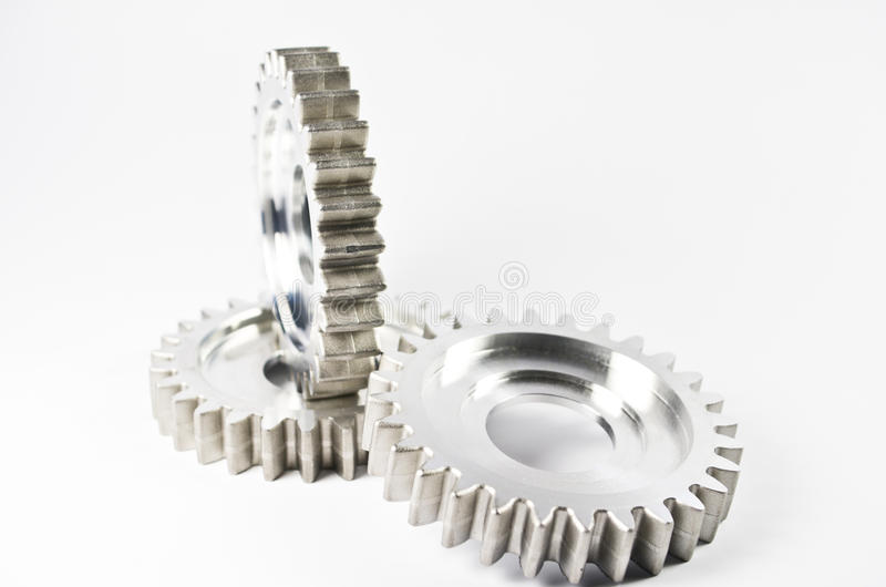 Download Gear-wheels on white stock image. Image of activity, production - 19796817