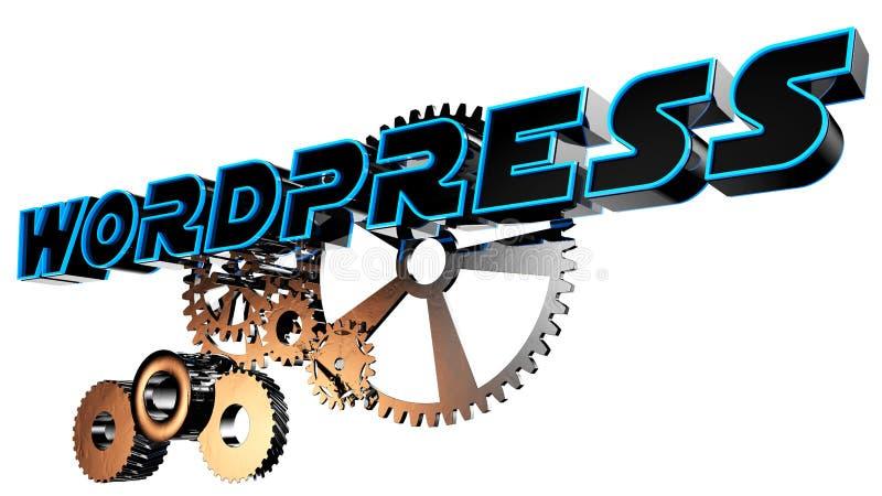 Geared wordpress royalty free illustration