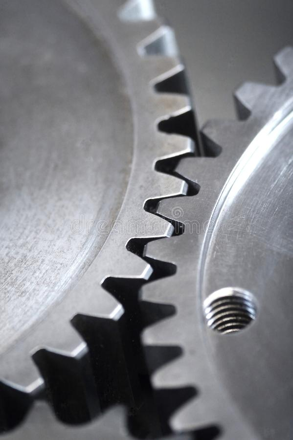 Gearing. Large gears and bearings on display stock photos