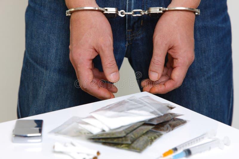 Gearresteerde drugdealer stock fotografie
