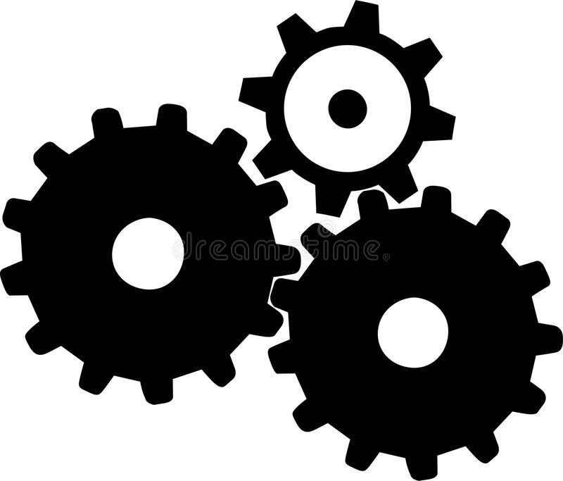 Gears - 1 stock illustration