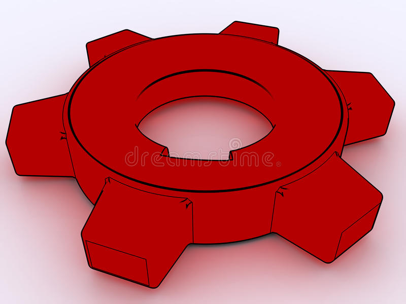 Download Gears stock illustration. Image of rotate, mechanical - 10470040