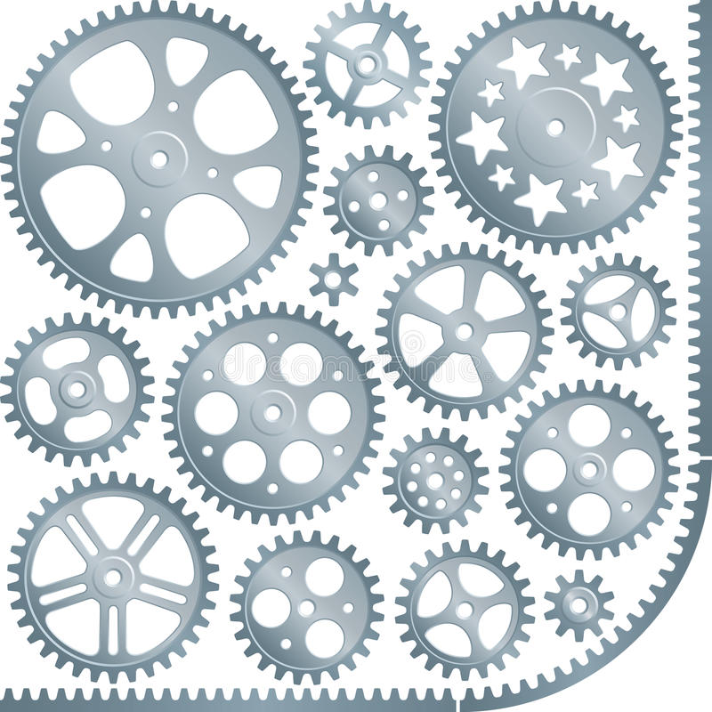 Download Gears stock vector. Image of graphic, ncogs, clock, element - 10831635