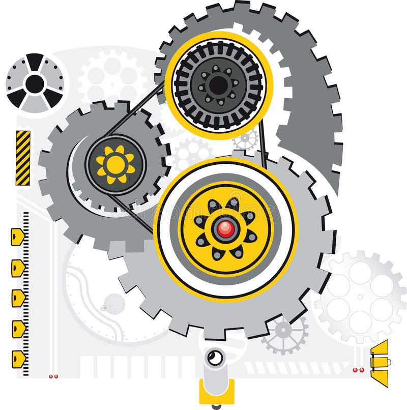 Download Gears stock vector. Illustration of gear, industry, engine - 13168684