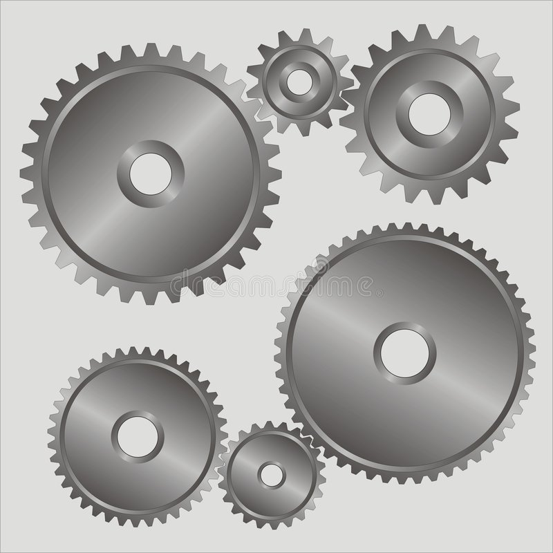 Download Gears. stock vector. Image of dentate, steel, gear, parts - 1788316