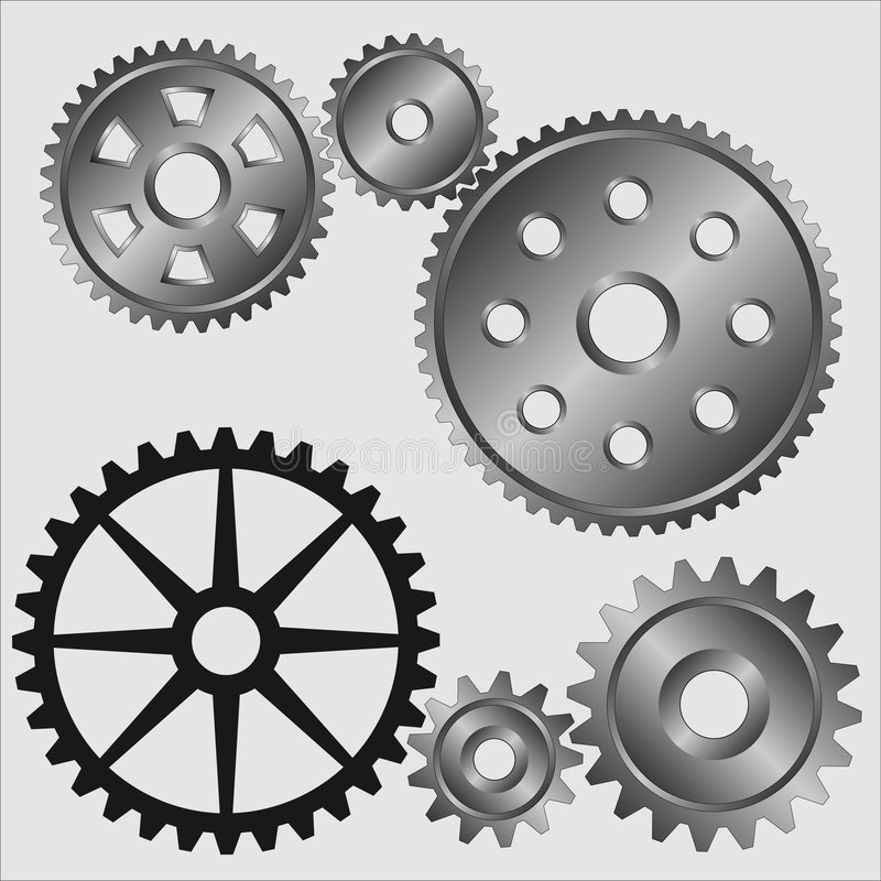 Download Gears. stock vector. Image of construction, energy, iron - 1832061