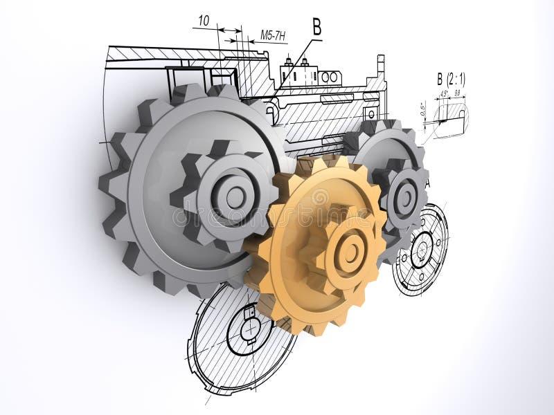 Gears stock illustration