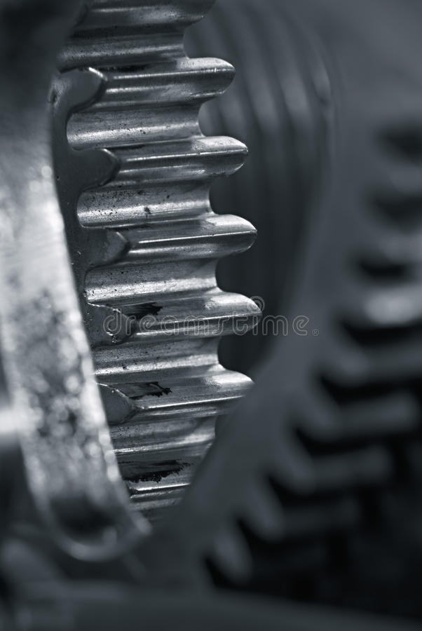 Gears. Detail of gears with small depth of Sharpness royalty free stock images