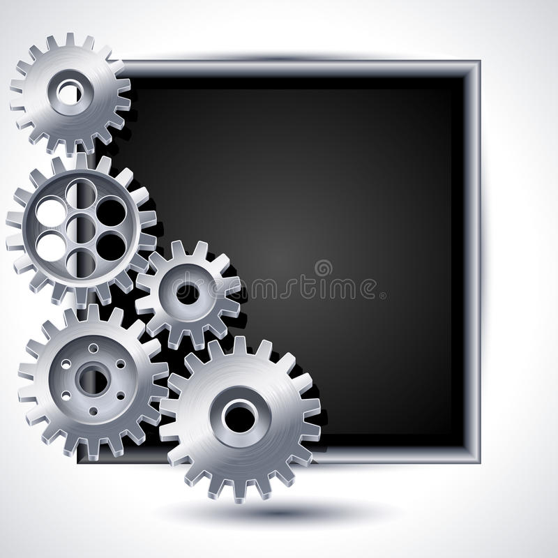 Gears. Vector illustration - gears and black chalkboard